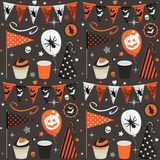 Halloween party pattern Royalty Free Stock Photo