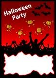 Halloween Party Placard Royalty Free Stock Photos
