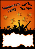 Halloween party placard - your text here Royalty Free Stock Image