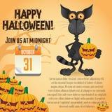 Halloween-Party-Plakat-Schablonen Stockfoto