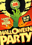 Halloween party in pop-art style. Royalty Free Stock Photo