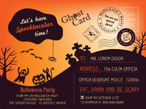Halloween Party Postcard background Stock Photos