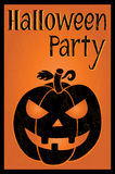 Halloween party postcard Stock Images