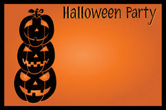 Halloween party postcard Royalty Free Stock Photography