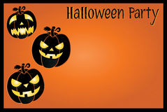 Halloween party postcard Royalty Free Stock Photos