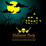 Halloween party poster background Royalty Free Stock Photo