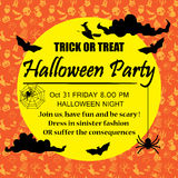 Halloween party poster background Stock Photo