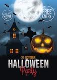 Halloween Party Poster Design Royalty Free Stock Photos