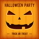 Halloween Party Poster Design template with orange pumpkin Royalty Free Stock Photography