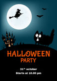 Halloween   party  poster  with  funny cat. Stock Images