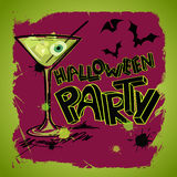 Halloween party poster with hand lettering Stock Photography