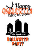 Halloween Party poster or invitation Stock Image