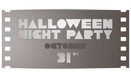Halloween party poster in a retro movie style Royalty Free Stock Photo