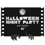 Halloween party poster in a retro movie style Royalty Free Stock Photography