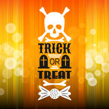 Halloween party poster. Typography letters font Royalty Free Stock Photo