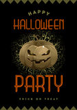 Halloween Party Poster Stock Photography