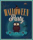 Halloween Party Poster. Royalty Free Stock Photos