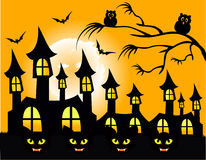 Halloween Party Poster Vector. Illustration Royalty Free Stock Image