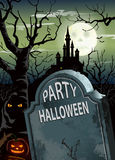Halloween party poster Stock Image