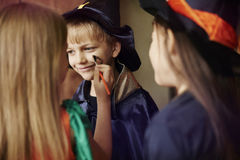 Halloween party. Preparation to the Halloween party Royalty Free Stock Image