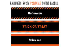 Halloween party. Printable bottle labels Stock Images