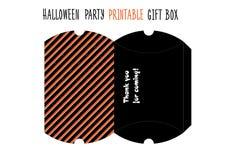 Halloween party. Printable gift box. Royalty Free Stock Photo