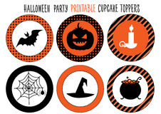 Halloween party. Printable set. Stock Photo
