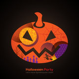 Halloween Party Pumpkin Illustration for card / poster Royalty Free Stock Photography