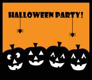 Halloween Party Pumpkins. Happy Halloween party pumpkins invitation Royalty Free Stock Photos