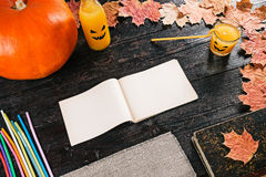 Halloween party recipe note Royalty Free Stock Photo