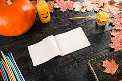 Halloween party recipe note Royalty Free Stock Photography