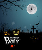 Halloween party scary design Stock Images