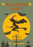 Halloween party scary flyer. Vector illustration stock illustration