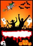 Halloween-Party-Schild Stockfoto