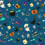 Halloween party seamless pattern design.  Royalty Free Stock Photos