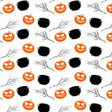 Halloween party seamless pattern design. All hallow eve repetitive print. Vector cartoon Illustration. Halloween party seamless pattern design. All hallow eve royalty free illustration