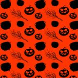 Halloween party seamless pattern design. All hallow eve repetitive print. Vector cartoon Illustration. Halloween party seamless pattern design. All hallow eve vector illustration