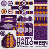 Halloween party set Stock Image
