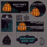 Halloween party set Royalty Free Stock Images