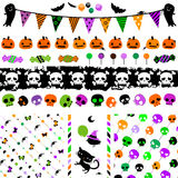 Halloween party set Royalty Free Stock Photo