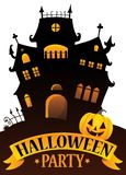 Halloween party sign composition image 4 Royalty Free Stock Images