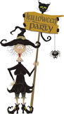 Halloween Party - Signboard Stock Images