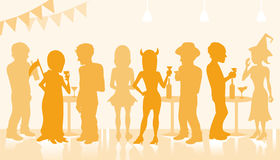 Halloween Party Silhouette Royalty Free Stock Images