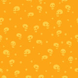 Halloween party skull background seamless pattern. Vector pattern for web page backgrounds, postcards, greeting cards, invitations, pattern fills, surface Stock Images