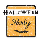 Halloween party stamp Royalty Free Stock Photos