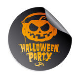 Halloween party sticker Royalty Free Stock Photo