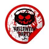 Halloween party sticker Stock Photos