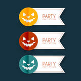Halloween party stickers Stock Images