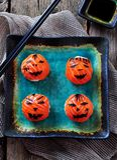 Halloween party sushi, Temari sushi, sushi balls Royalty Free Stock Image