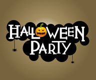 Halloween party text design Stock Photo